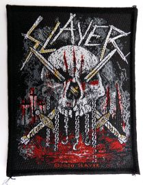 Slayer - 'Skull and Swords' Woven Patch